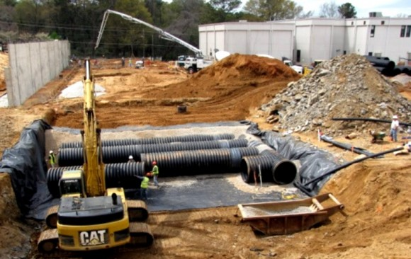 School's growing storm water problem solved